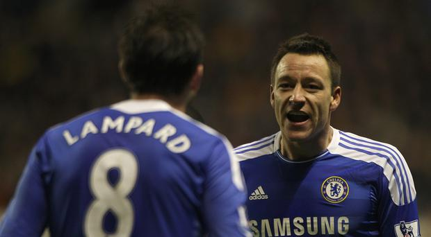 John Terry, right, and Frank Lampard played together at Chelsea for over a decade (Nick Potts/PA)