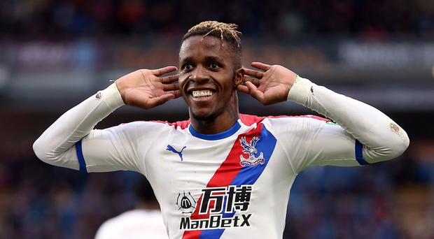Crystal Palace's Wilfried Zaha is a reported Arsenal target (Nigel French/PA)