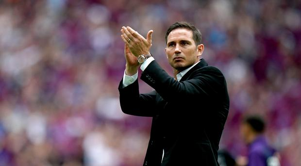 Derby manager Frank Lampard is rumoured to be heading back to Stamford Bridge (John Walton/PA)