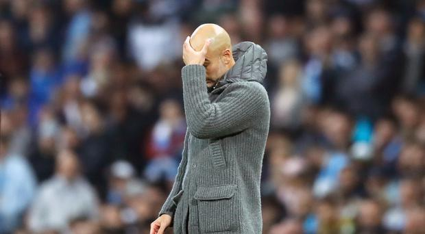 Pep Guardiola was stuck in Manchester as the Premier League Asia Trophy media events got under way (Martin Rickett/PA)