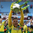 Norwich's Max Aarons helped the Canaries to the Sky Bet Championship title last season (Nigel French/PA)