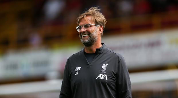 Jurgen Klopp insists he is happy with his current squad (Barrington Coombs/PA)