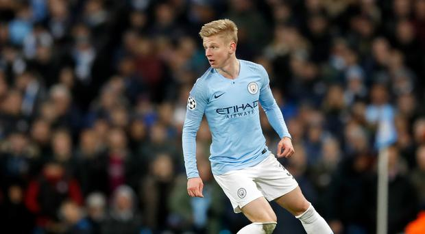Oleksandr Zinchenko has paid tribute to the support he received from Vincent Kompany (Martin Rickett/PA)