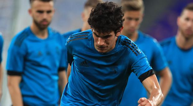 Real Madrid's Jesus Vallejo is set to join Wolves on loan. (Mike Egerton/PA)