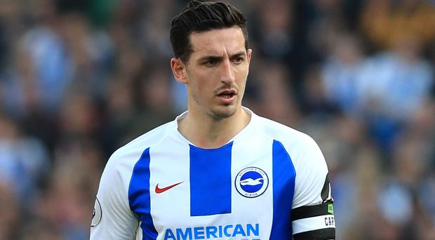 Lewis Dunk has been linked with Leicester (Gareth Fuller/PA)