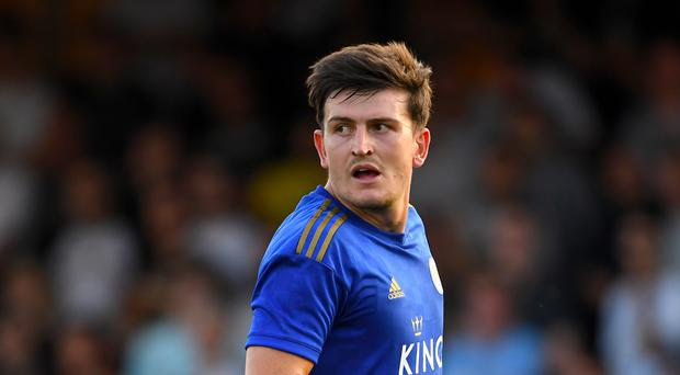 Harry Maguire is set to join Manchester United from Leicester (Joe Giddens/PA)