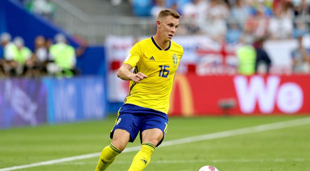 Sweden international Emil Krafth is due to undergo a medical at Newcastle (Aaron Chown/PA)