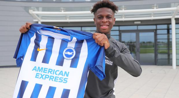 Romaric Yapi has joined Brighton from Paris St Germain (Brighton and Hove Albion FC)