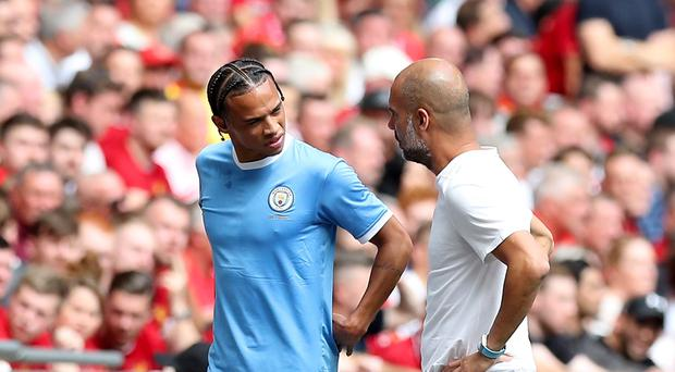 Leroy Sane suffered ACL damage in the Community Shield (Martin Rickett/PA)