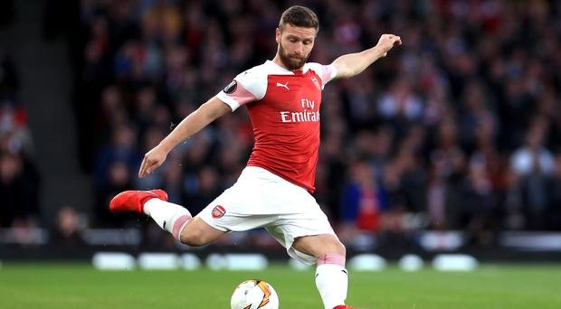 Shkodran Mustafi remains the most expensive defender in Arsenal's history (Mike Egerton/PA)