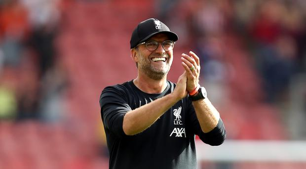 Jurgen Klopp, pictured, was happy with Adrian's performance despite his error (Steven Paston/PA)