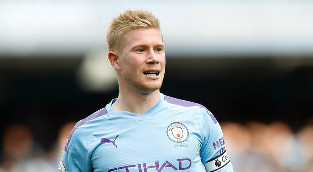 Kevin De Bruyne's Man City had to settle for a point against Tottenham (Martin Rickett/PA)