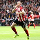 John Lundstram was the Blades' match-winner at Bramall Lane (Tim Goode/PA)