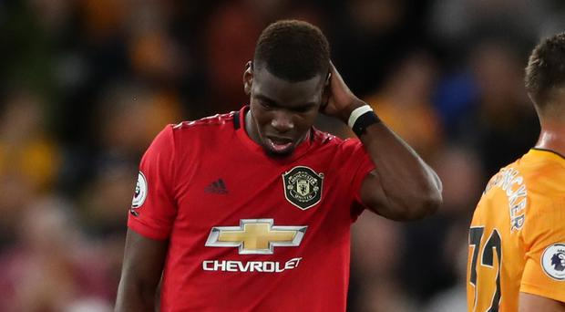 Paul Pogba missed a penalty at Wolves (Nick Potts/PA)