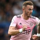James Maddison could soon get his full England debut, thinks Leicester boss Brendan Rodgers (Steven Paston/PA)