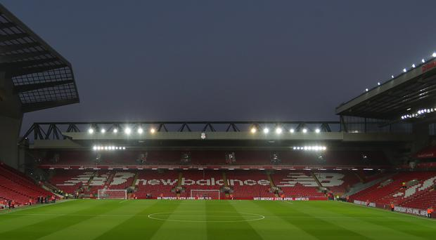 Liverpool are to pursue more ambitious plans for the redevelopment of the Anfield Road stand (Richard Sellers/PA)