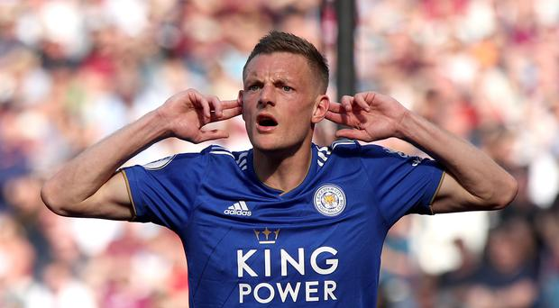 Jamie Vardy will be hoping to score his first goal of the season against Sheffield United (Yui Mok/PA)