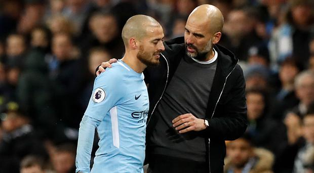 Pep Guardiola admitted he once doubted David Silva would thrive in the Premier League (Martin Rickett/PA)