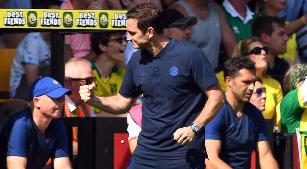 Frank Lampard was happy with the win at Norwich (Joe Giddens/PA)