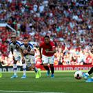Marcus Rashford failed to score from the penalty spot against Crystal Palace (Nigel French/PA)