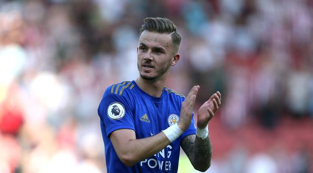Brendan Rodgers expects James Maddison, pictured, will have caught the England manager's eye (Richard Sellers/PA)