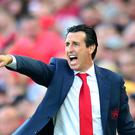 Unai Emery felt there were positive things to take from Arsenal's loss to Liverpool (Anthony Devlin/PA)