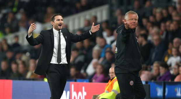 Sheffield United boss Chris Wilder has a lot of respect for Frank Lampard (Nigel French/PA)