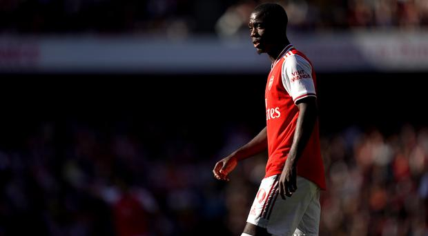 Arsenal forward Nicolas Pepe played the full 90 minutes of the north London derby (John Walton/PA)