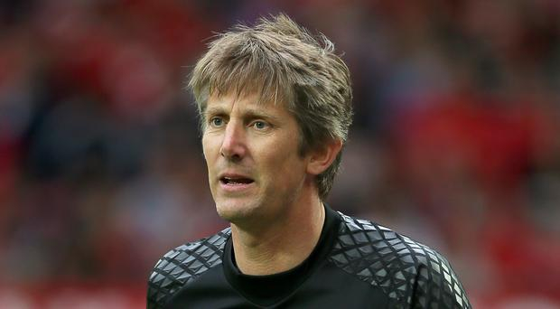 Edwin Van Der Sar played down talk of a possible return to Manchester United (Richard Sellers/PA)