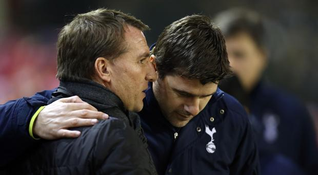 Brendan Rodgers and Mauricio Pochettino have not faced each other since February 2015 (Peter Byrne/PA).