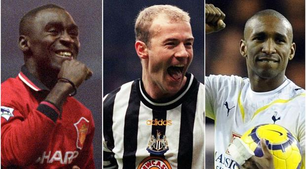 Andy Cole, Alan Shearer and Jermain Defoe, l-r, helped their sides to Premier League routs (Rui Vieira/John Giles/Neil Tingle/PA)