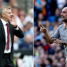 Ole Gunnar Solskjaer and Pep Guardiola experienced contrasting weekends (Nigel French/Martin Rickett/PA).
