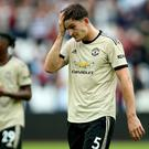 Manchester United slumped to a deserved defeat at West Ham (Nigel French/PA).