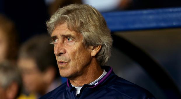 Manuel Pellegrini was unhappy with West Ham's midweek defeat at Oxford (Steven Paston/PA)