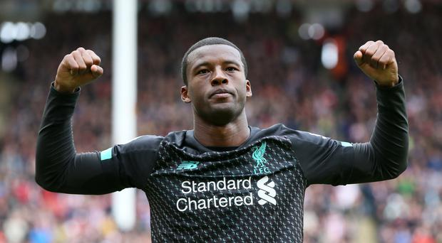 Georginio Wijnaldum scored in the 1-0 win over Sheffield United which extended Liverpool's run to 16 successive Premier League victories (Richard Sellers/PA)