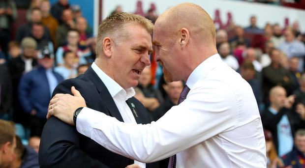 Dean Smith, left, and Sean Dyche had to settle for a point apiece (Nick Potts/PA)