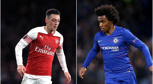 Do Mesut Ozil and Willian have futures in the capital?(Mike Egerton/Steve Paston/PA