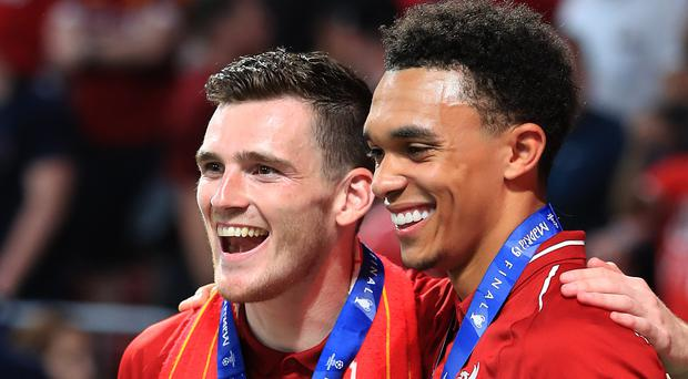 Liverpool defenders Andrew Robertson and Trent Alexander-Arnold have both warned they have to cut out complacency (Peter Byrne/PA)