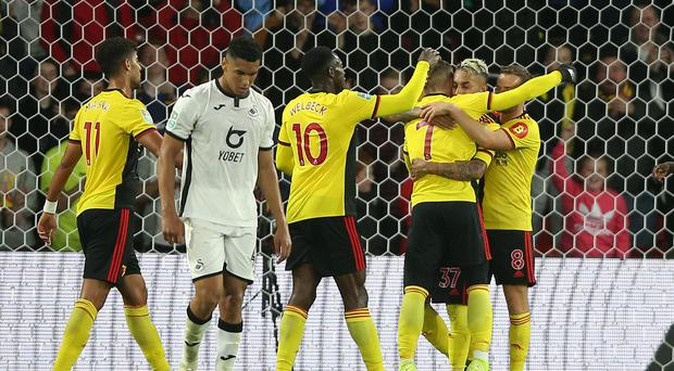Watford's only wins this season have come in the Carabao Cup (Nigel French/PA)
