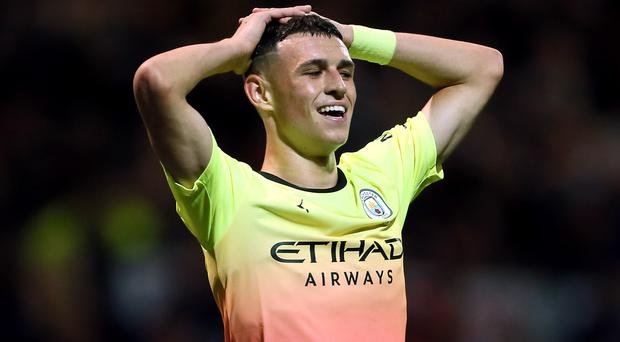 Phil Foden has played just 102 minutes for Manchester City this season (Richard Sellers/PA)