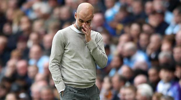 Pep Guardiola admits Manchester City have much catching up to do (Nick Potts/PA)