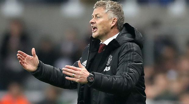 Manchester United manager Ole Gunnar Solskjaer saw his side go down 1-0 at Newcastle (Owen Humphreys/PA)