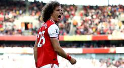 David Luiz scored the only goal of the game as Arsenal beat Bournemouth (Tim Goode/PA).