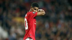 Marcus Rashford has apologised for Manchester United's poor form (Martin Rickett/PA)