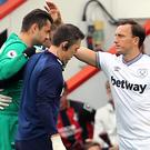 Lukasz Fabianski was injured against Bournemouth (Mark Kerton/PA)