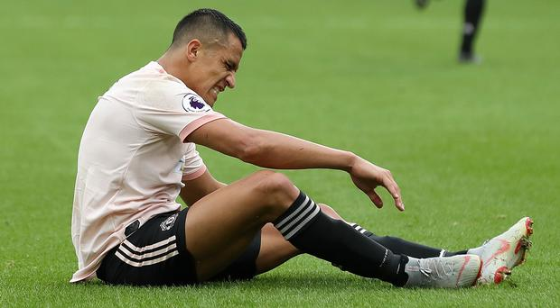 Manchester United's Alexis Sanchez, who is on loan at Inter Milan this season, is facing a spell out injured (Martin Rickett/PA)