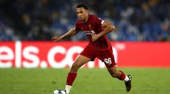 Liverpool's Trent Alexander-Arnold has an entry in the Guinness World Records book (Mike Egerton/PA)