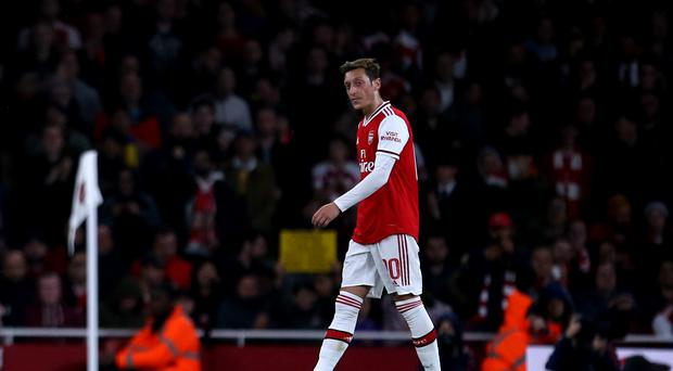 Mesut Ozil has only played twice for Arsenal in the 2019-20 season (Steven Paston/PA)
