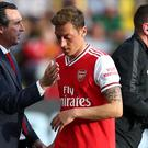 Arsenal manager Unai Emery has only used Mesut Ozil twice this season (Nick Potts/PA)