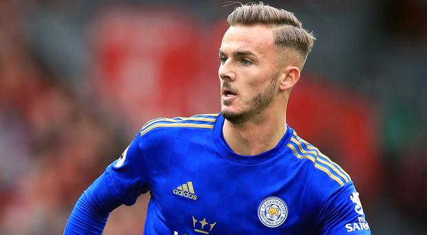 Leicester's James Maddison controversially visited a casino last week (Peter Byrne/PA)